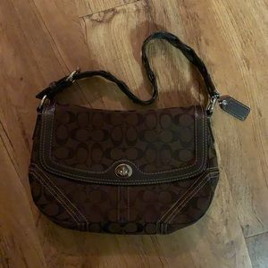 Coach Shoulder Bag Chocolate Brown